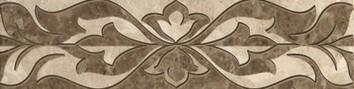 Керамическая плитка Saloni brown 01 Бордюр 30х7