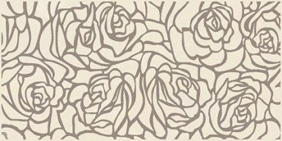 Керамическая плитка Serenity Rosas Декор кремовый 08-03-37-1349 20х40