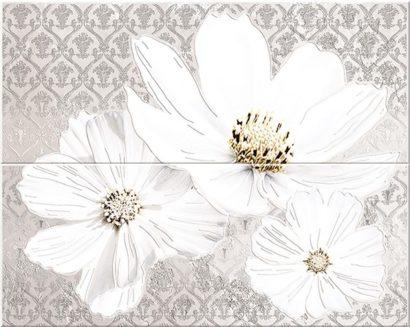 Керамическая плитка Sfumato grey Панно Floret 50