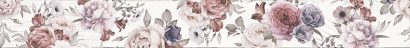 Керамическая плитка Шебби Шик Бордюр 1506-0018 7x60 белый