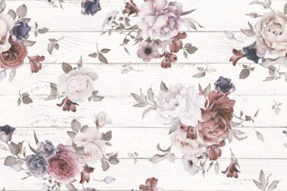Керамическая плитка Шебби Шик Панно белый 1606-0006 40х60 (компл. из 2-х шт)