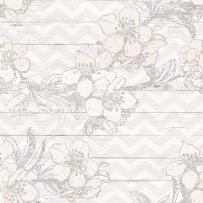 Керамическая плитка Шебби Шик Панно серый 1606-0007 60х60 (компл. из 3-х шт)