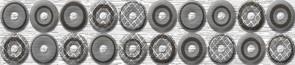 Керамическая плитка Шелк серый  53-03-06-038-0   66-02-02-38   Бордюр 25х5
