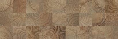 Керамическая плитка Шиен 4Д Плитка настенная декор коричневый