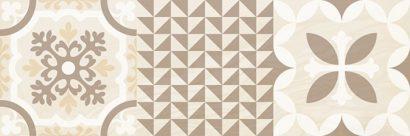Керамическая плитка Shine Плитка настенная бежевый узор 17-00-11-1198 20х60
