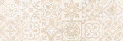 Керамическая плитка Сонора 3Д Плитка настенная декор бежевый пэчворк 25х75