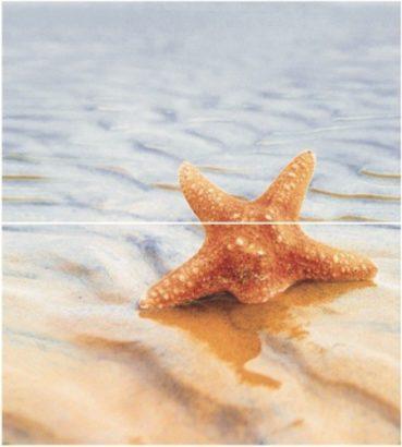 Керамическая плитка Starfish 1 (панно из 2-х шт) 50х45