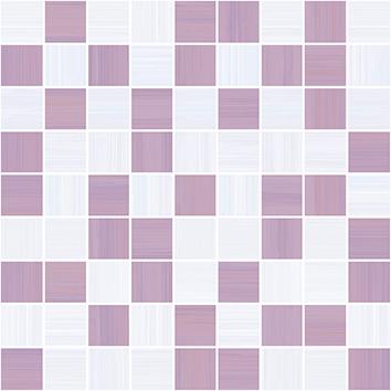 Плитка мозаика Stripes Мозаика лиловый+серый 30х30