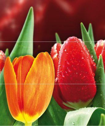 Керамическая плитка Syntia Tulip А Панно (из 3пл) 60х50