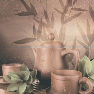 Керамическая плитка Tea ceremony Панно P2D175 30х40 (из 2-х пл.)