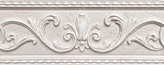 Керамическая плитка Tender Marble Бордюр 1 бежевый 1502-0606 20х8
