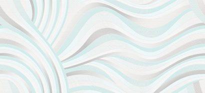 Керамическая плитка Tiffany вставка волна белый (TV2G051) 20x44