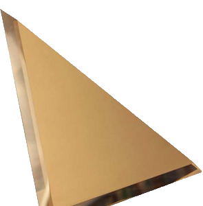Керамическая плитка Треугольная зеркальная бронзовая плитка с фацетом 10мм ТЗБ1-01 - 180х180 мм 10шт