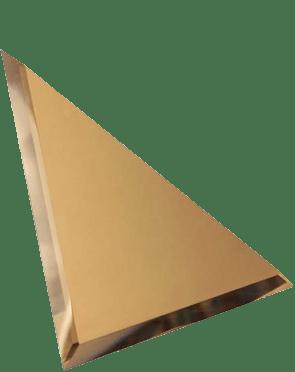 Керамическая плитка Треугольная зеркальная бронзовая плитка с фацетом 10мм ТЗБ1-02 - 200х200 мм 10шт