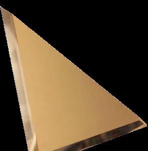 Керамическая плитка Треугольная зеркальная бронзовая плитка с фацетом 10мм ТЗБ1-03 - 250х250 мм 10шт
