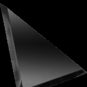 Керамическая плитка Треугольная зеркальная графитовая плитка с фацетом 10мм ТЗГ1-03 - 250х250 мм 10шт