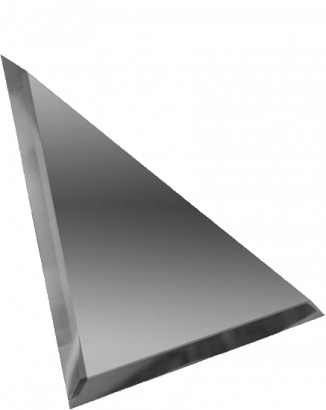 Керамическая плитка Треугольная зеркальная графитовая плитка с фацетом 10мм ТЗГ1-04 - 300х300 мм 10шт