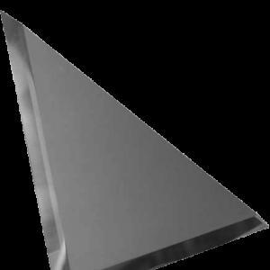 Керамическая плитка Треугольная зеркальная серебряная плитка с фацетом 10мм ТЗС1-01 - 180х180 мм 10шт