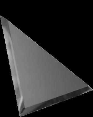 Керамическая плитка Треугольная зеркальная серебряная плитка с фацетом 10мм ТЗС1-03 - 250х250 мм 10шт