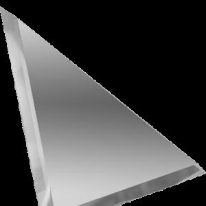 Керамическая плитка Треугольная зеркальная серебряная плитка с фацетом ТЗС1-15 15х15