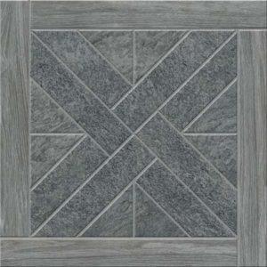 Керамическая плитка Urban Quarzite Декор Антрацит с деревянной рамкой K943932 450х450 мм - 1