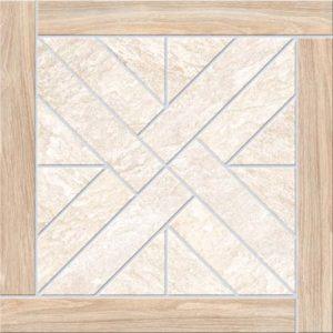 Керамическая плитка Urban Quarzite Декор Бежевый с деревянной рамкой K943930 450х450 мм - 1