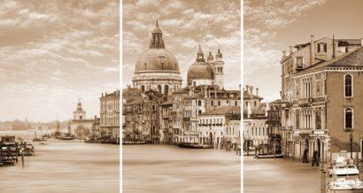Керамическая плитка Venice Панно стекло из 3-х плиток 75х40