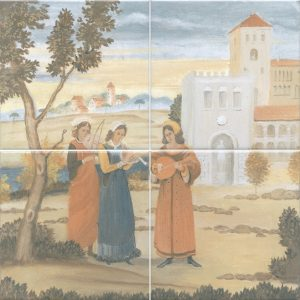Керамическая плитка Виченца Панно из 4-х частей VB A04 4x 17000 30х30