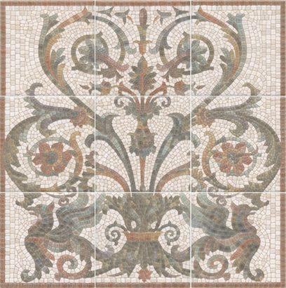 Керамическая плитка Виченца Панно из 9 частей HGD A99 9x 17000 45х45