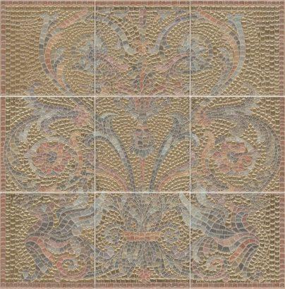 Керамическая плитка Виченца Панно золото из 9 частей HGD B99 9x 17000 45х45