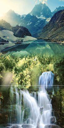 Керамическая плитка Waterfall mountains P3D259 Панно из 3-х плиток 30х60