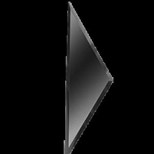 Керамическая плитка Зеркальная серебряная плитка ПОЛУРОМБ боковой РЗС1-01(б) 10х34