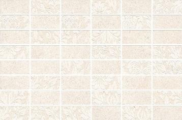 Керамическая плитка Золотой пляж Декор светлый беж мозаичный MM8262  20х30