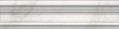 Керамическая плитка Брера Бордюр Багет белый BLB041 20×5