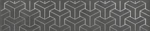 Керамическая плитка Ломбардиа Бордюр антрацит AD D569 6400 25×5