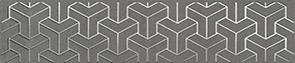 Керамическая плитка Ломбардиа Бордюр серый темный AD C569 6399 25×5