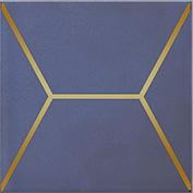 Керамическая плитка Витраж Декор синий OP C181 17065 15×15