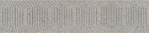 Керамическая плитка Безана Бордюр серый обрезной OP B206 12137R 25×5
