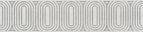 Керамическая плитка Безана Бордюр серый светлый обрезной OP A206 12136R 25×5