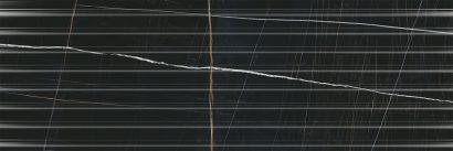 Керамическая плитка Греппи черный структура обрезной 14035R 40×120