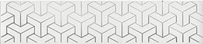 Керамическая плитка Ломбардиа Бордюр белый AD A569 6397 25×5