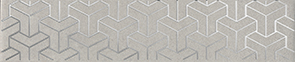 Керамическая плитка Ломбардиа Бордюр серый AD B569 6398 25×5