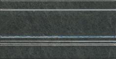 Керамическая плитка Стемма Плинтус зеленый темный FMD027 20×10