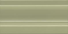 Керамическая плитка Турати Плинтус зеленый светлый FMD032 20×10