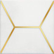 Керамическая плитка Витраж Декор белый OP A181 17063 15×15