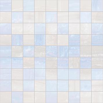 Керамическая плитка Diadema Мозаика 30×30 голубой+белый