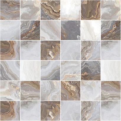 Керамическая плитка Goldy Мозаика серый 30×30