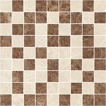 Керамическая плитка Libra Мозаика коричневый+бежевый 30×30