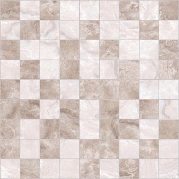 Керамическая плитка Marmo Мозаика 30×30 т.бежевый+бежевый