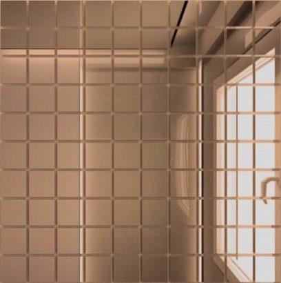 Керамическая плитка Мозаика зеркальная Бронза Б25 ДСТ 25 х 25 300 x 300 мм (10шт) - 0